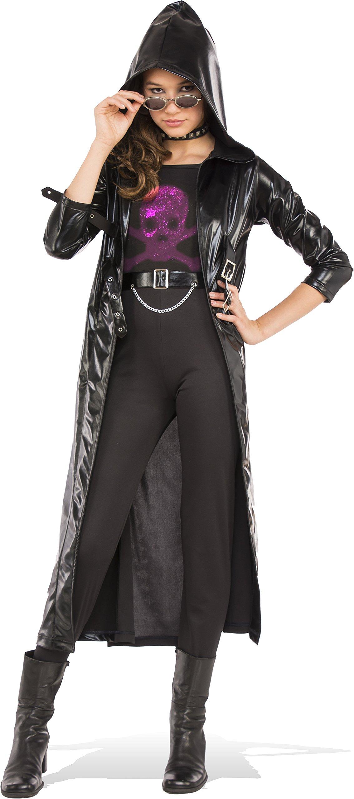 Rubies Costume Black Goth Coat Set Teen Costume, Medium, Multicolor