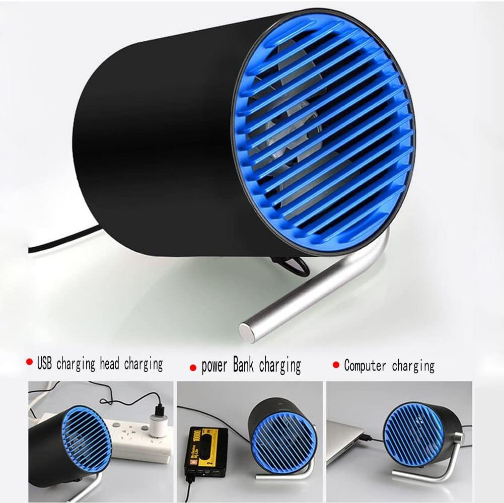 black-B FJY Mini Table Desktop Fan USB Portabl Small Desk Personal Fan Air Circulator for Table Work Home Outdoor Office Laptop Computer PC Traveling Camping PN001
