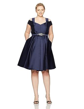 47e0acb898c Eliza J Women s Plus Size Off The Shoulder Flared Dress at Amazon Women s  Clothing store