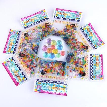 fc0a37262 Perlas de Gel de agua perlas para jarrón de llenado, velas, boda centro de