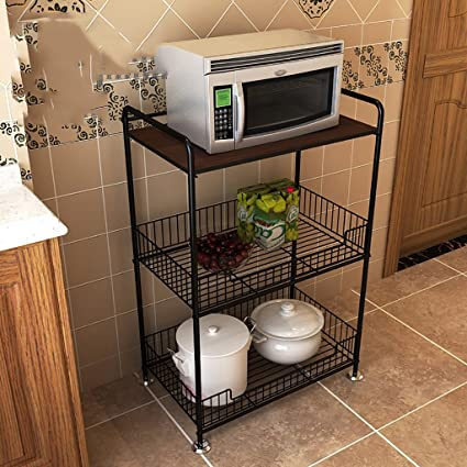 Shelf LYG Estante de Cocina Metálico Multiusos con Ruedas Cestos con de para Organizar Fruta Verduras