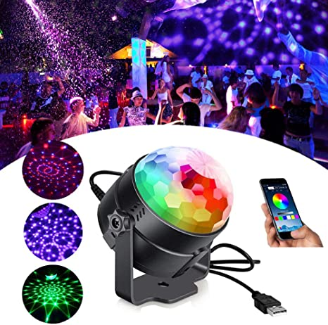 LED RGB Disco Party Lampe Ball Handy USB Sound Control Kristall Lampe Universal