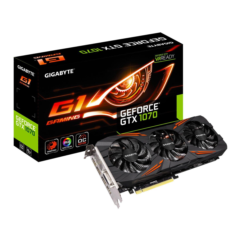 Gigabyte GeForce GTX 1070 GV de n1070g1 gaming-8gd Tarjeta gráfica ...