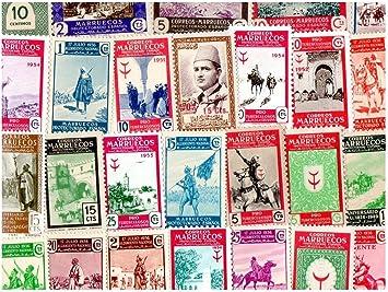 pghstamps Marruecos Español 25 Colección de Diferentes Sellos para ...