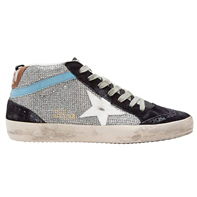 3dd5f1b8bc0653 Golden Goose Women s Sneakers Mid Star Disco Glitter White Star G33WS634.M4  (Size