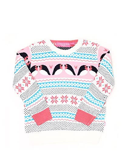 a0530aa5e London Fog Infant Girls Casual Sweater  Amazon.in  Clothing ...