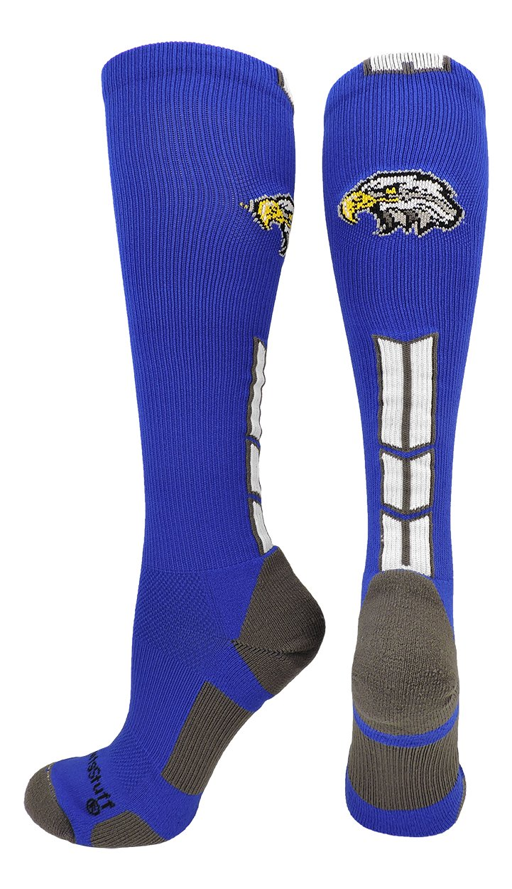 MadSportsStuff Eaglesロゴover the calf Socks複数色 B0794N4PBN Small|ロイヤル/ホワイト ロイヤル/ホワイト Small