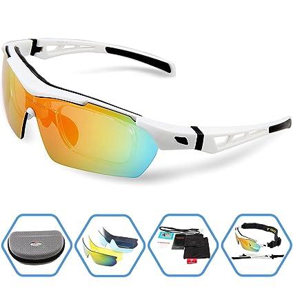 2d766bc1ee3 torege Gafas de deporte Gafas de sol polarizadas para hombres mujeres  Ciclismo Pesca Golf TR003