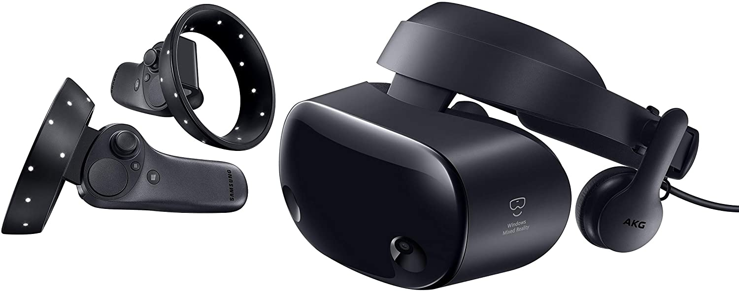 "Samsung HMD Odyssey+ Windows Mixed Reality Headset with 2 Wireless Controllers 3.5"" Black (XE800ZBA-HC1US)"
