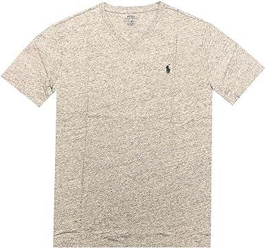 Polo Ralph Lauren - Camiseta con Cuello en V para Hombre - Gris ...