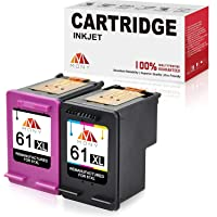 Mony Remanufactured Ink Cartridges HP 61 61XL (Black & Tri-Color, 2 Pack) Replacement for HP Envy 4500 5530 4502…
