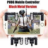Mobile Game Controller, [Upgraded Version] Yobenki Cell Phone Game Controller Sensitive Shoot and Aim Keys L1R1 Shooter Controller for PUBG/Knives Out/Rules of Survival, Mobile Gaming Joysticks for Android IOS(1 Pair)
