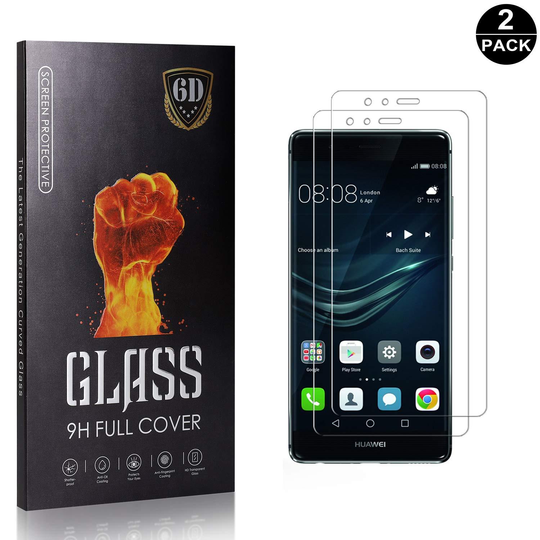 HD Cristal Templado para Huawei P9 Lite SONWO Cristal Templado con Dureza 9H para Huawei P9 Lite 2 Piezas Anti-burbujas Dureza 9H