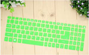 15.6 Inch Silicone Keyboard Cover Protector for Acer Aspire E15 V3/E5-553G/575G F5-572G/573G T5000 V5-591G V5-T5000-green-