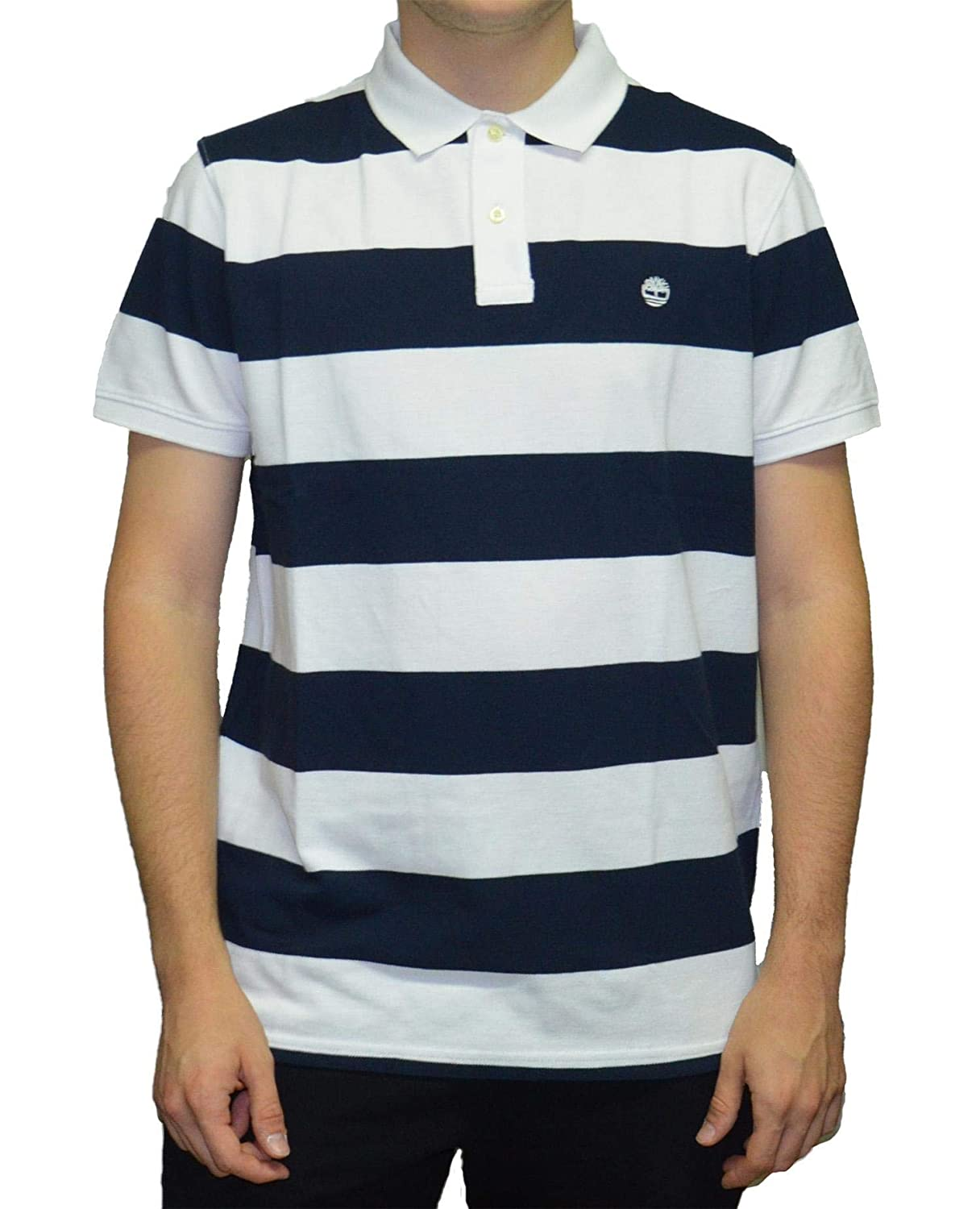 Timberland SS Millers River Pique Wide Stripe Polo Reg Uomo