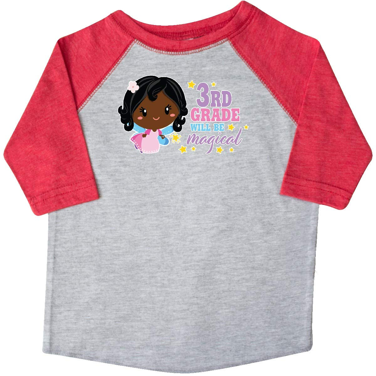 inktastic 3rd Grade Will Be Magical with Black Haired Fairy Toddler T-Shirt