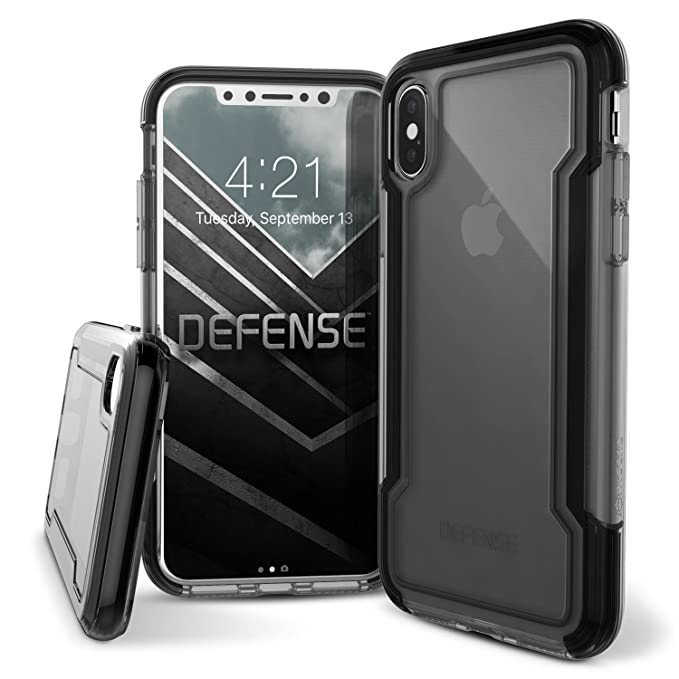 new concept e4efa bfa36 X-Doria iPhone X Case, Defense Clear Series - Military Grade Drop  Protection, Clear Protective Case for iPhone X (Black)