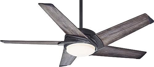 Casablanca Fan Company 59093 Stealth 049694590930, 54-inch, Aged Steel dark
