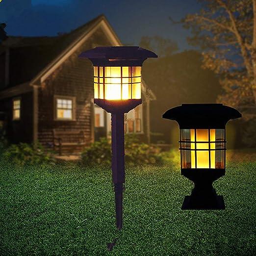 Luces solares para jardín - Baile Llama parpadeante Seguridad solar Lámparas de jardín Decoración al aire libre para caminos/patio/camino de entrada/patio - Paquete de 2: Amazon.es: Iluminación