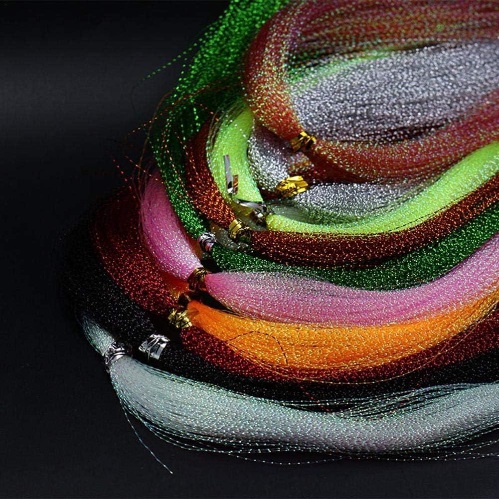 Fiaoen Accessoires de p/êche Mouche Ligne dapp/âts en Soie de Plumes de p/êche color/ée Good
