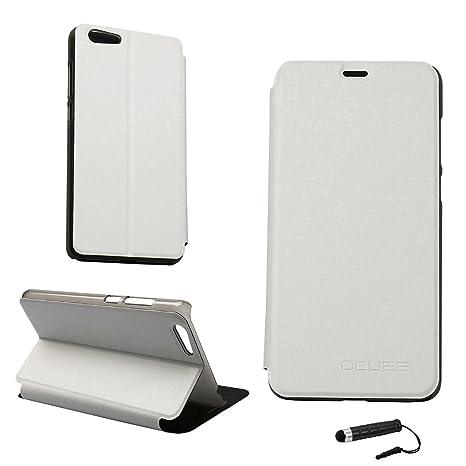 Funda Libro para Elephone S7, Ycloud PU Leather Slim Flip Cover Carcasa Cubierta Enrrollada Perfectamente al Móvil de Multi-Angle Shockproof Silicio ...