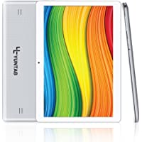 YUNTAB K107 Quad-Core Tablet 10.1 Pulgadas 3G+WiFi Dual SIM Android 5.1 3G Tablet PC Yuntab HD 1280 X 800 IPS,16GB 3D Juegos Google Play Store Youtube Netflix (Plata)