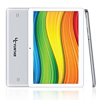 Yuntab 10.1 pollici 3g Tablet PC K107 Android 5.1 Lollipop quad core, 1 GB RAM, 16GB Storage, Display IPS 1280 x 800, Dual SIM Phone Tablet , Bluetooth, GPS, Ultra HD 0.3MP+2.0MP Doppia Fotocamera, Wi-Fi 5000mAh batteria (Argento plastica)