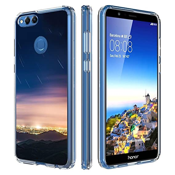 buy popular d9eb3 4fb50 Amazon.com: Milostar Huawei Honor 7X Clear Case, TPU Protective ...