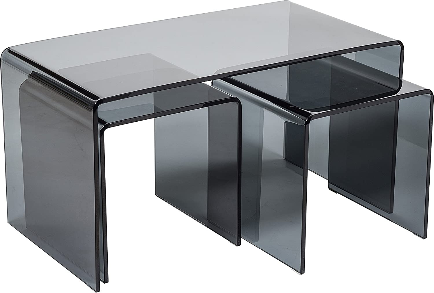 Modena Stylish Set Of 3 Curved Black Glass Coffee Tables Modern 12mm Bent Glass Living Room Table Side Table Set Minimalist Dark Tempered Glass Nest Of Tables 110 X [ 1014 x 1500 Pixel ]