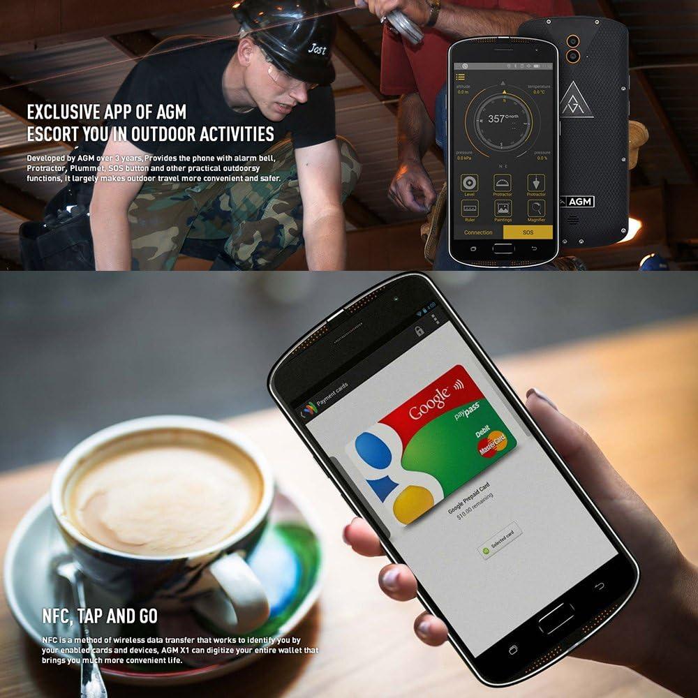 AGM x1 IP68 impermeable antipolvo Antigolpes Smartphone 4 G ...