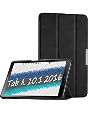 EasyAcc Case for Samsung Galaxy Tab A6 10.1 2016 (SM-T580 / T585) - Ultra Slim Lightweight Smart Cover Compatible for Galaxy Tab A6 10.1 Inch 2016 with Stand Function/Auto Sleep Wake-up (Black)