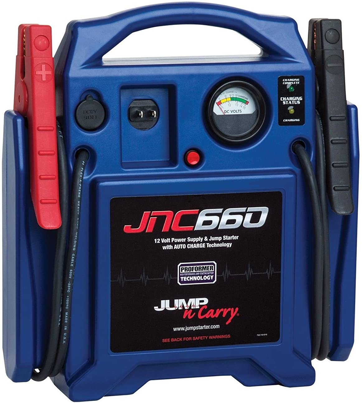 Best Car Battery Charger Clore Automotive Jump-N-Carry JNC660 1700 Peak Amp 12 Volt Jump Starter