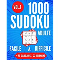 1000 SUDOKU Adulte | Facile à Difficile