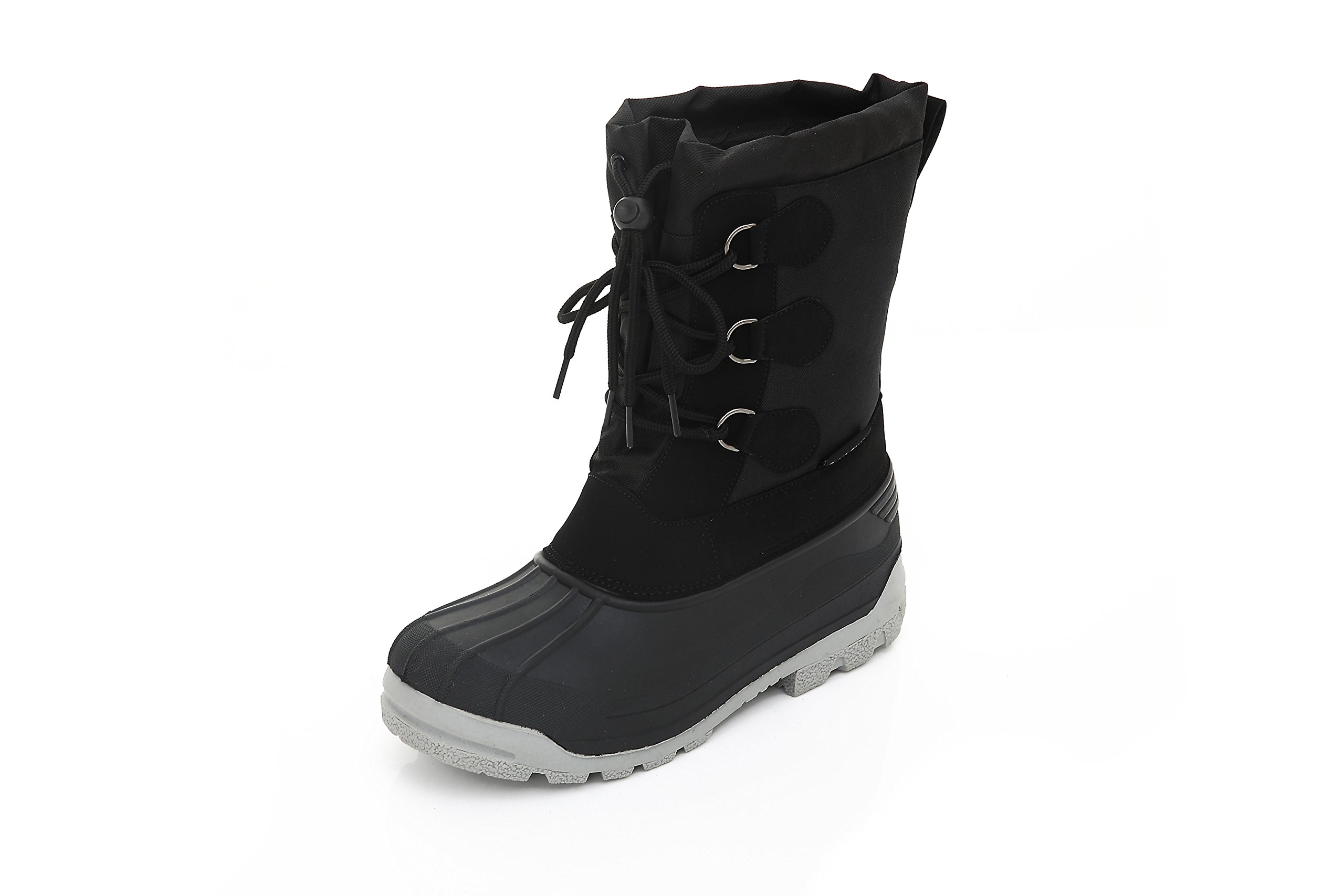 Womens Short Winter Boots Booties - Lace-Up Closure Comfortable Weatherproof Snow Boots