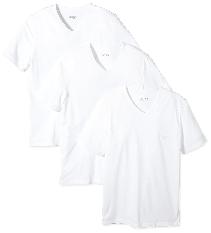 00c578cfb Amazon.com: HUGO BOSS 3 Pack Cotton Classic V-Neck T-Shirt, Shirt SS VN  Monochrome: Clothing