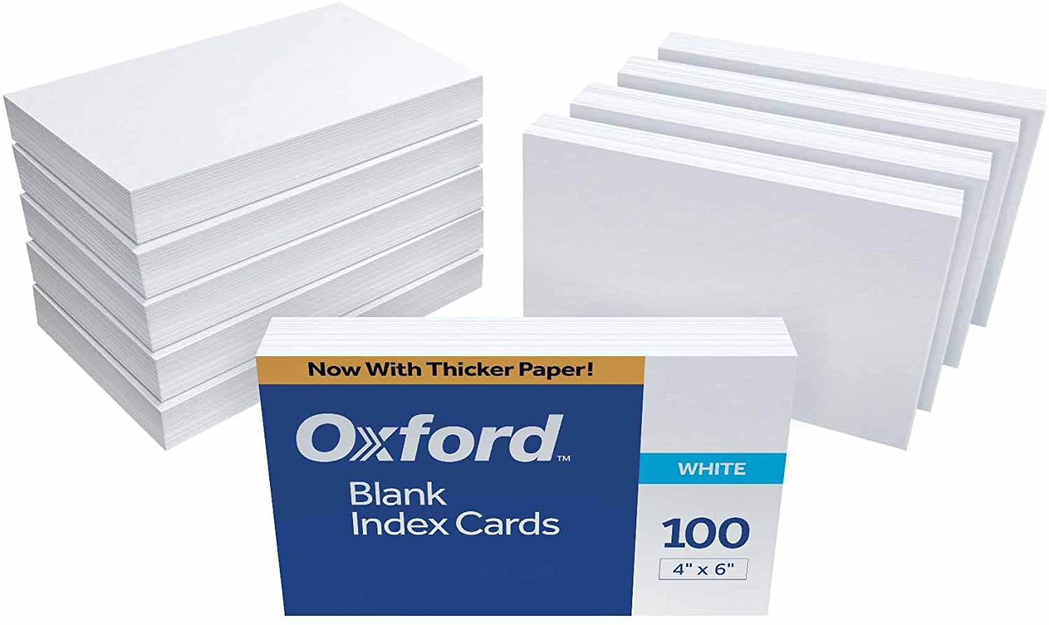 Oxford Blank Index Cards, 9 x 9 Inches, White, 9 Packs of 90 90
