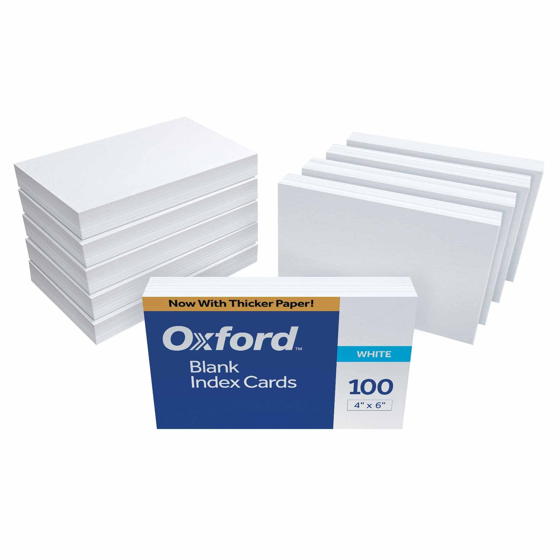 Oxford Blank Index Cards, 4'' x 6'', White, 1,000 Cards (10 Packs of 100) (40) by Oxford