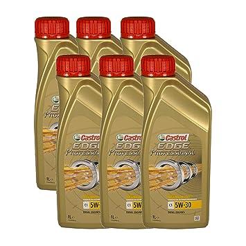 Castrol EDGE Professional C1 5W-30 Aceite para motores diésel con tecnología TITANIUM FST®, 6 unidades de 1 litro: Amazon.es: Coche y moto