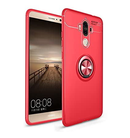 Leton Funda Huawei Mate 9 Silicona Anillo Ring Rojo Carcasa ...