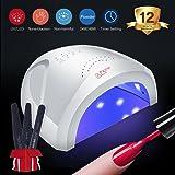 Modelones 48W 24W UV LED Nail Lamp-Nail Dryer Nail Light for Gel Nail Polish with 3 Timer Setting Senor for Fingernail and Toenail Curing