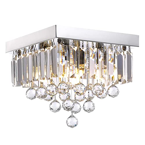 Crystal Chandelier Lighting for Hallway Modern Raindrop Design Ceiling Light W10 x H9