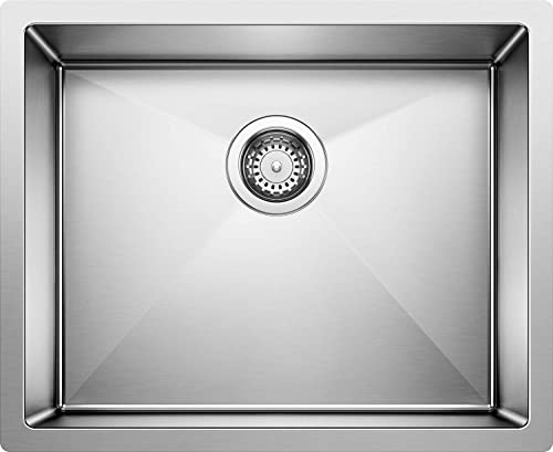 BLANCO Stainless Steel 516223 PRECISION R10 Large Single Bowl Undermount Kitchen Sink, 22.00 x 18.00 x 10.00 inches