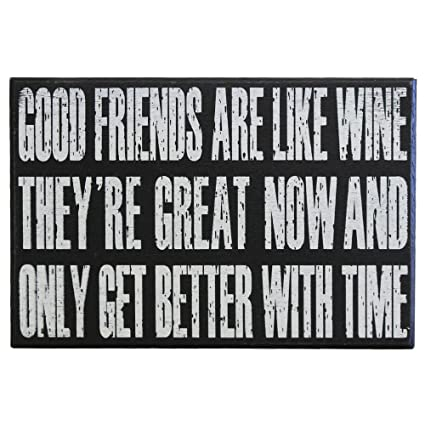 Amazon JennyGems Wine Signs Best Friends Good Friends Are Simple Quote About Great Friends And Wine