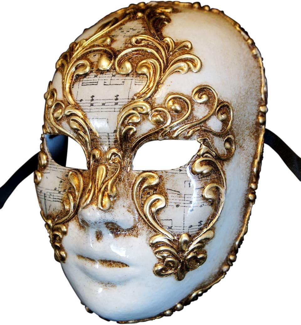 Maschera Veneziana Integrale Volto Musica per Uomo e Donna