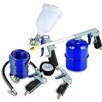 MICHELIN compressor accessoires 5 delig (inclusief blaaspistool met korte spuitmond, bandenpomp, verfspuitpistool…