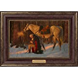"""The Prayer At Valley Forge- Arnold Friberg Gallery Quality Framed Art Print- Textured 17""""x24""""- Washington Picture"""