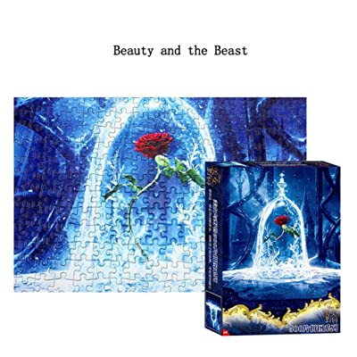 LDLHM Beauty and The Beast Classic Puzzle, Suitable for Adults/Children, Fun Puzzle Game, 500 Paper Puzzles: Toys & Games