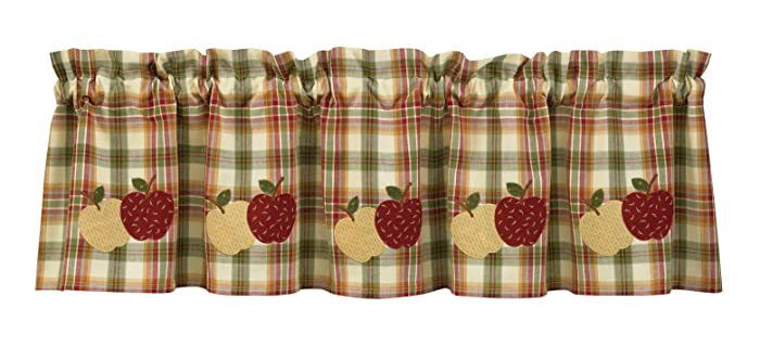 Park Designs Apple Lined Valance, 60 x 14