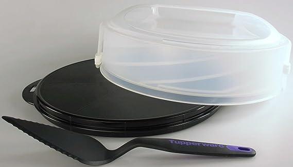 TUPPERWARE Exclusiv Tortentwist schwarz TWIST Torten + Griffbereit Tortenheber