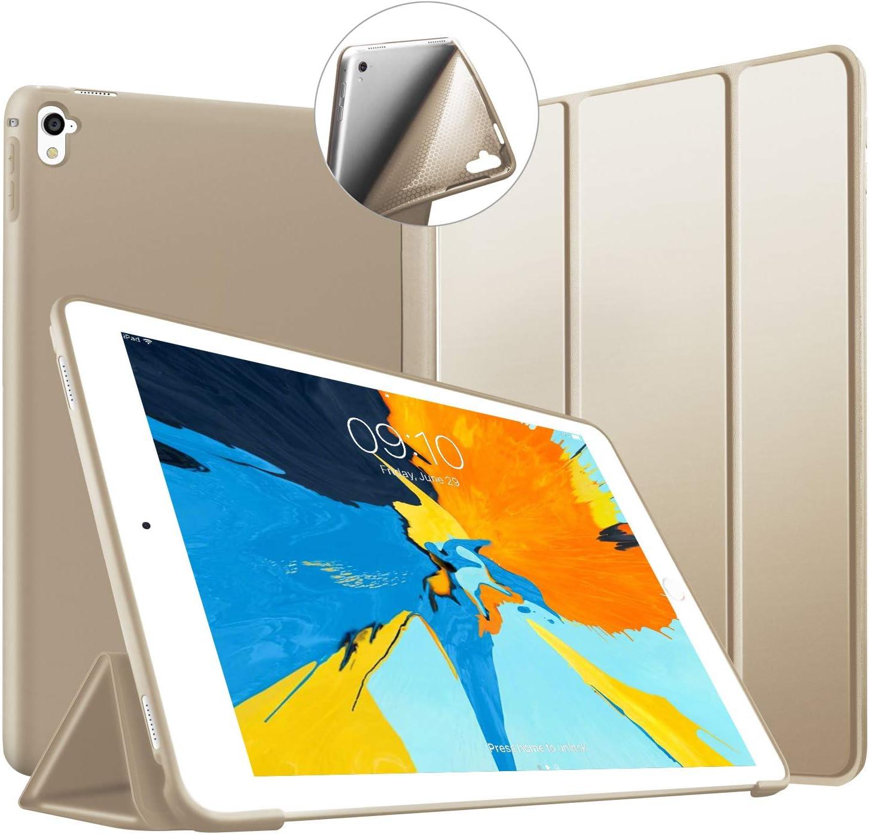 VAGHVEO Funda para iPad Pro 9,7 2016, Ultra Delgada Smart Carcasa con Auto-Sueño/Estela Función, Flexible de Goma Suave Cover Protectora Estuche ...